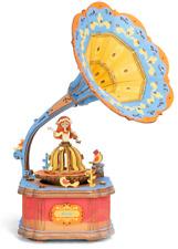 3D-Puzzle Grammofon Musik Spielzeug aus Holz edukative Spieluhr zum Selberbauen