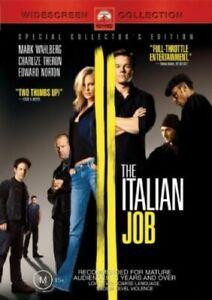 The Italian Job DVD Region 4 Au ACTION Mark Wahlberg, Charlize Theron