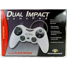 Dual Impact Gamepad Joypad P-113 Gray Wired Dual Analog Digital Control 2E