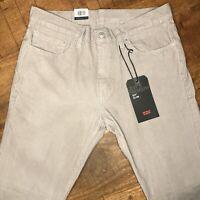 Levi's 511 Corduroy Pants Slim Fit Stretch Opal Gray 045114001 Size 32x32