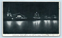 Venice, CA AUDITORIUM SHIP CABRILLO & PIER NIGHT PRE 1908 M RIEDER UDB POSTCARD