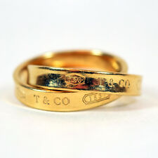 Tiffany & Co 18 Karat Yellow Gold Double Band 1837 Ring, Size 4.75