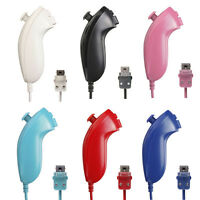 Wired Nunchuck Game Left Remote Controller para Nintendo Wii Console 6 color