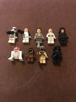 Lego Complete Set of Minifigures x 9 bundle STAR WARS - Jawa, R2D2, Troopers