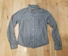 HOLLISTER MEN'S LONG SLEEVE CHECKERED SMALL WHITE BLUE PREOWNED