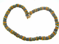 Sand Glass Trade Bead Necklace E Vintage Genuine Bold Traditional African Power