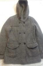 Trussardi Jeans - cappotto beige/grigio - bottoni - due tasche - cappuccio  TG10