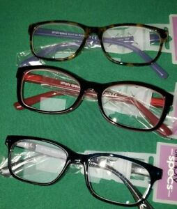 Lot Of 3 FGX +2.50 Strong Womans Fashion Reading Glasses PP fgx2
