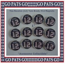 TOM BRADY Frig Magnets NE Patriots Collector's Magnets Sweet Stocking Stuffer