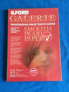 Ilford Galerie Smooth Pearl 25 Sheets A4 290g/m2 Photo Paper
