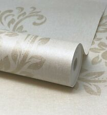 Paste The Wall Natural, Gold and Green  Floral Flower Print Wallpaper - FD65808