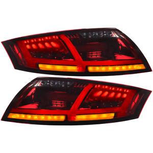 LED Lightbar Rückleuchten für Audi TT 8J Bj. 06-14 rot schwarz inkl. LED Blinker