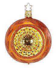"Inge Glas ""Pumpkin"" 8cm Reflector Ball Glass Ornament - Made in Germany (#295)"