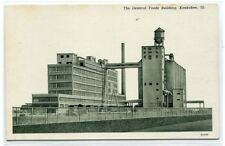 General Foods Factory Building Kankakee Illinois Curt Teich Sample postcard