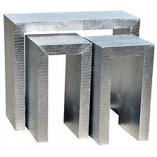 Dusx MOC Croc Set of Three Nesting Side Tables 91 X 37 X 72cm