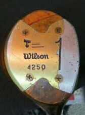 Vintage Wilson 4250 Swing Power Laminate Driver MRH Reg Flex Steel Shaft GLOSSY!