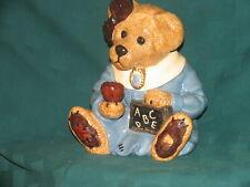 "Boyd's Bear Ceramic Cookie Jar H390000 ""Ms. Bruins Cookie Jar"", Nib #8E/152"