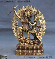 Tibet Buddhism Bronze Hevajra Mandkesvara HAPPY Budda Yab-Yum Buddha Statue