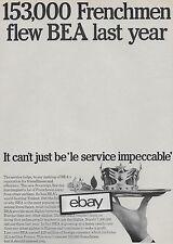 BEA BRITISH EUROPEAN 1966 SOVEREIGN SERVICE 153,000 FRENCHMEN FLEW BEA AD