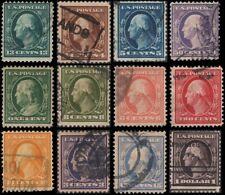 US #331-342 set Used