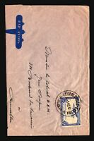 Belgian Congo 1940 Airail Cover to Brussels / Taped Bottom Fold - Z14354