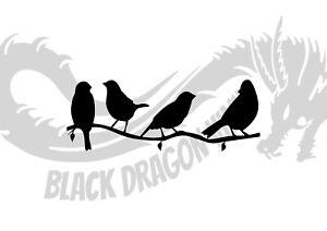 Set Of Birds On A Branch Inspired Design Animal Wall Art Decal Vinyl Sticker