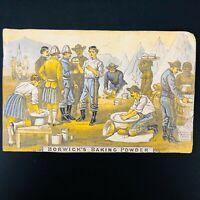 1890s Victorian Borwick's Baking Powder Trade Card British Camp Scene Boer War