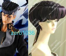Cos JoJo's Bizarre Josuke Higashikata dark purple cosplay modeling wig