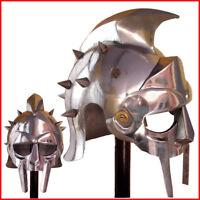 Wearable Gladiator Maximus Roman Spiked Helmet 18 Gauge Steel w/ Inner Liner vg1