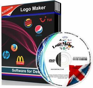 Logo Maker Creator Design Software CD - Windows Vista 7,8,8.1 and Windows 10