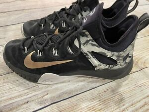 NIKE ZOOM Hyperrev Paul George 705370-071 Black Basketball Shoe US 11.5