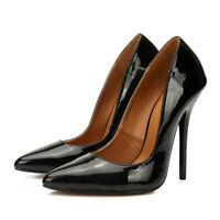 Plus Size Men's High Heels 13cm Drag Queen Skull Pointy Trans Queer Women Shoes