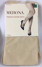 New - Merona (Medium/Large) NEUTRAL Tan Fashion Tights DOTS Panty Hose - TARGET