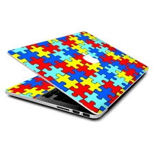 Skin Wrap for MacBook Pro 15 inch Retina  colorful puzzle pieces autism