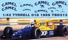 1/43 DECALS TYRRELL 018 1989 DECAL TBD313