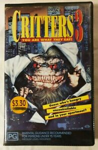 Critters 3 VHS 1991 Comedy/Horror Kristine Peterson Applause Home Vid Ex-Rental