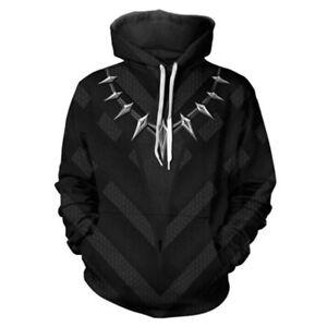 Black Panther Cosplay Hoodie 3D Printed Sweatshirt Men Women Casual Pullover