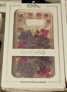 Case-Mate Karat case for Galaxy Note 8 - Purple Petals (With Real Flowers)