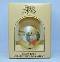 Vintage Precious Moments Christmas Ornament Ball Surround Us With Joy 1983