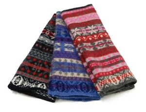 Traditional 5 Colour Fair Isle Wristwarmer - Handcrafted in Hawick, Scotland
