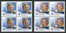 Australian Stamps: 2002 Winter Olympic Gold Medallists - 2 Blocks of 4