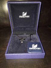 Swarovski crystal / Jet cross necklace New! Crucifix Jet ~ Retired ~ Unisex