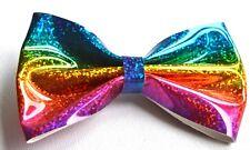 NEW 12cm Holographic multi coloured rainbow hair clip fashion