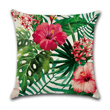 Africa Tropical Plant Print Cushion Cover Green Leaves Pillow Case Decoration 14#