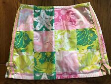 Lilly Pulitzer Paradise Patch Skort Girls Crab Starfish Shell Vintage Shorts 12