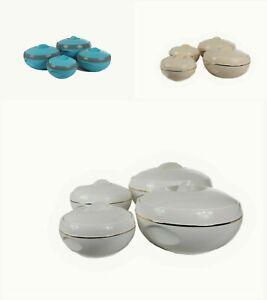 4pc Insulated Hot Pot Food Serving Warming Casserole Pan Dish Bowl Set