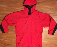 Vtg 90s Marlboro Adventure Team Jacket Windbreaker Coat Sz L Black Red