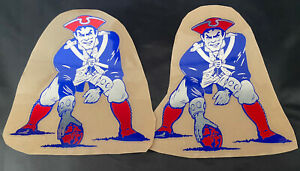 New England Patriots Football Helmet Decals Full Size High Quality Chrome !!