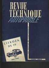 (C5)REVUE TECHNIQUE AUTOMOBILE CITROEN DS 19 Tous types 1955 à 1962