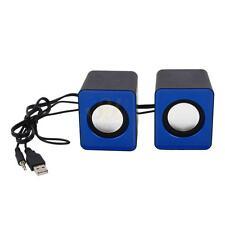 2.0 Desktop Mini Speaker Black & BLue for MP3/Mobile/Computer/DVD US ca